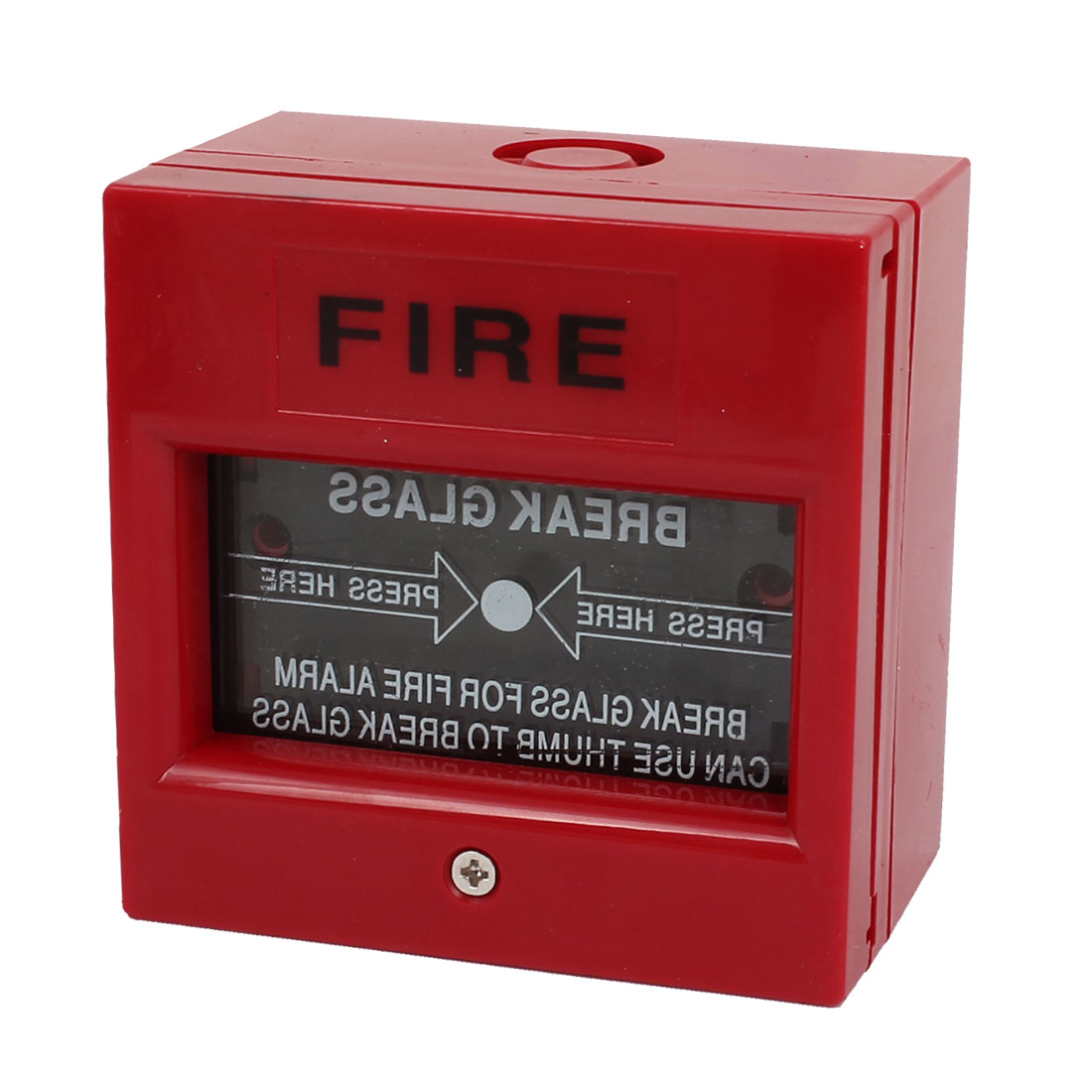 Break Glass Manual Call Points Red Shell Fire Alarm Pull Station DC 24V 5A