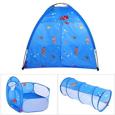 Ejoyous Indoor and Outdoor Toy 3 in 1 Sea World Pattern Kid Entertainment Tent  Portable Child Playhouse, Kid Play Tent,Children's Entertainment Tent - image 8 of 8