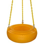 Swing Set Stuff Inc. Plastic Tire Swing with Coated Chain (Yellow)