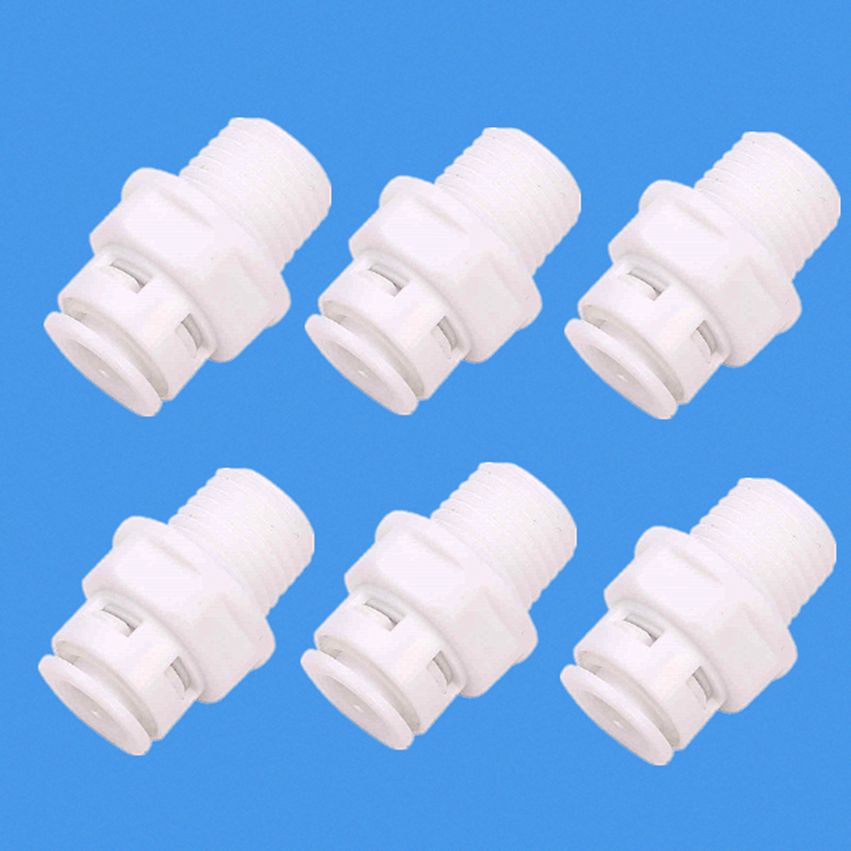 """1/4"""" Push Fit Tube 1/4"""" Thread Male Quick Connect RO Water Reverse Osmosis"""