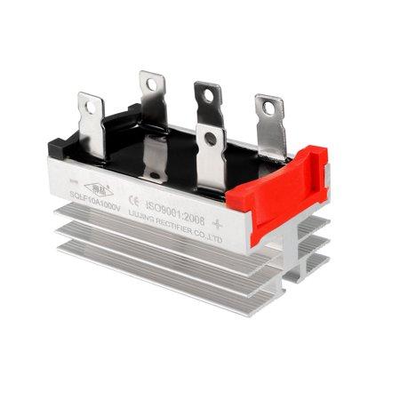 SQLF 10A 1000V 3 Phase 5 Pins Aluminum Heatsink Bridge Rectifier Diode