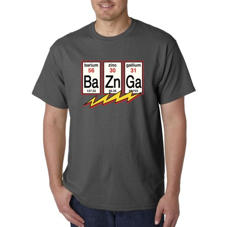 Trendy USA 685 - Unisex T-Shirt Ba Zn Ga Bazinga Big Bang Theory Flash Physics Chemistry Small (Mens Clothing Athens Ga)