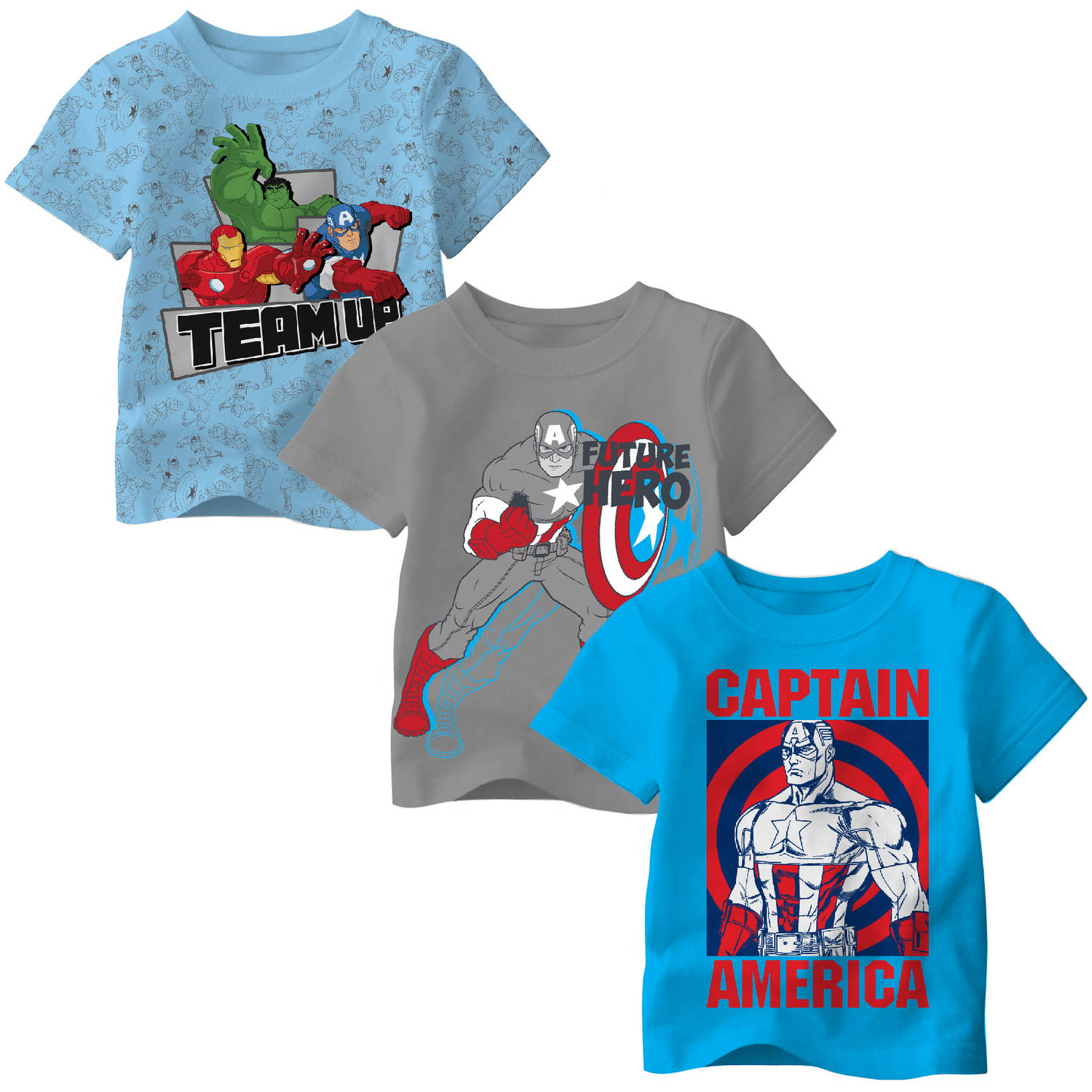 Avengers Toddler Boy Team  Up Tee Shirt, 3 pack - Online Exclusive