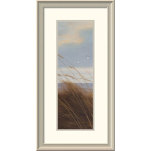 Global Gallery 'Sailboat Breezeway Panel I' by Diane Romanello Framed Painting Print