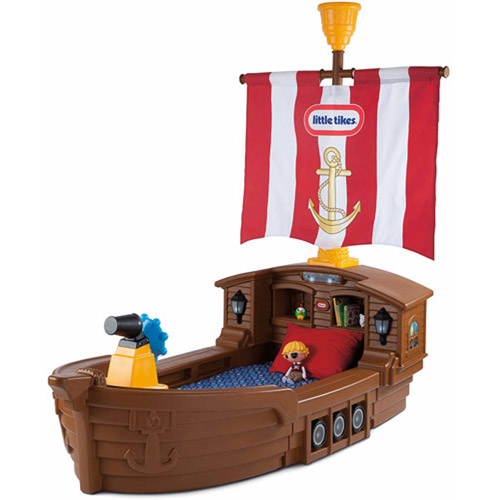 Little Tikes Pirate Ship Toddler Bed with Storage