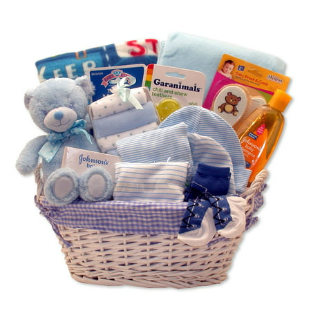 Simply Baby Necessities Gift Basket in Blue - Baby Necessities From A To Z