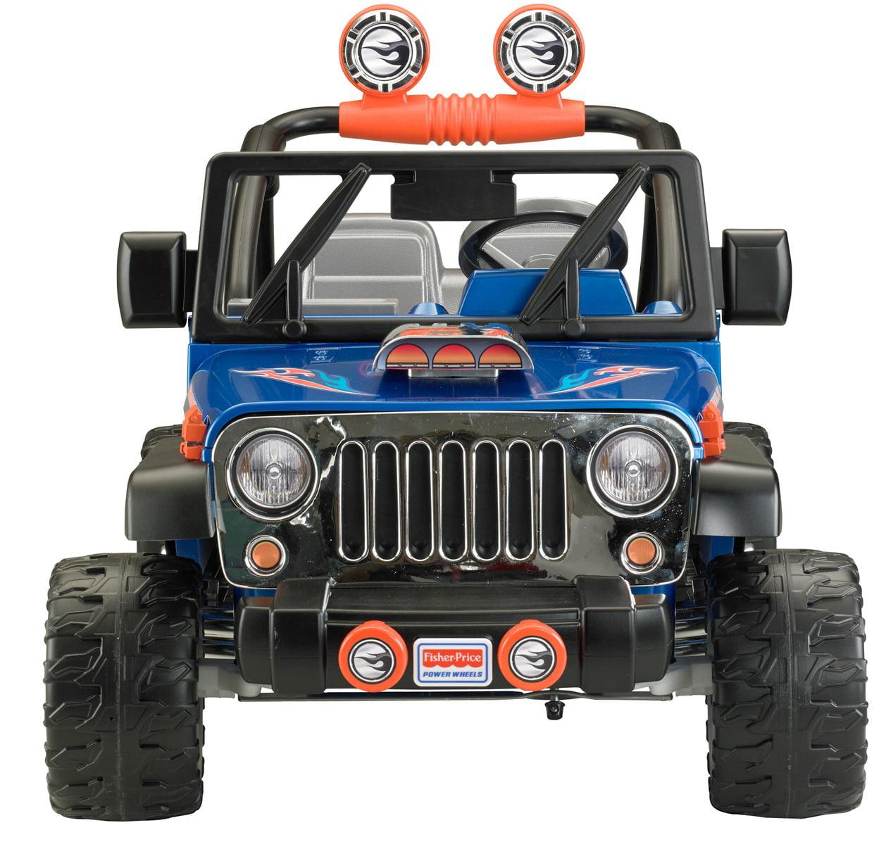Power Wheels Hot Wheels Jeep Wrangler 12-Volt Battery-Powered Ride