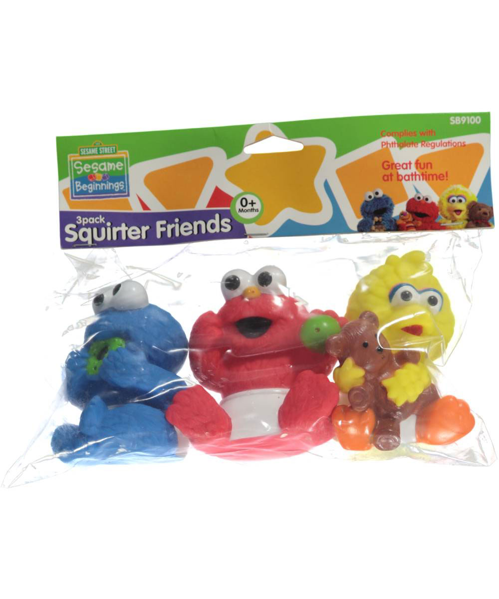 Sesame Beginnings 3-Pack Squirter Friends