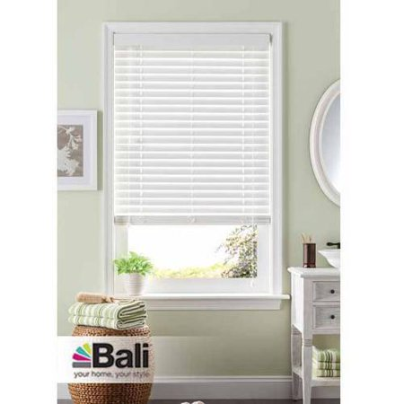 Bali 2 room darkening faux wood blind white available for Bali blinds