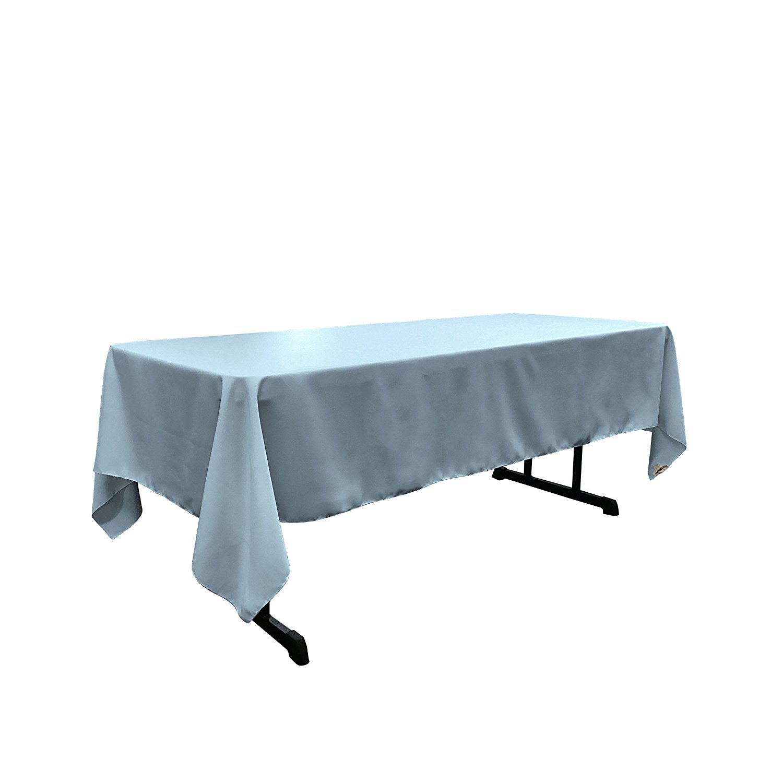 "LA Linen Polyester Poplin 60 by 108"" Rectangular Tablecloth, Light Blue by LIVEDITOR LIGHTING"