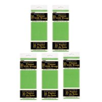 (5 Pack) Tissue Paper Sheets, 26 x 20 in, Lime Green, 10ct