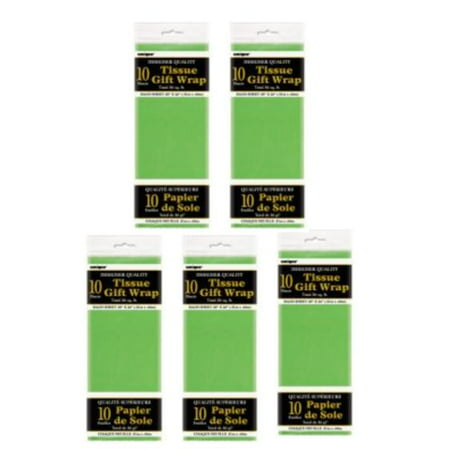(5 Pack) Tissue Paper Sheets, 26 x 20 in, Lime Green, 10ct - Tissue Paper Ideas For Halloween