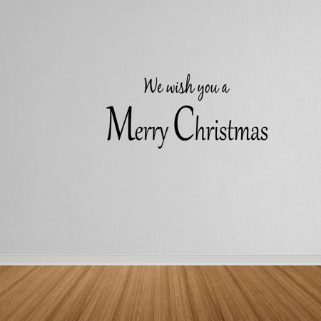 Wall Decal Quote We Wish You A Merry Christmas Decor Holidays Wall Decor W99 ()