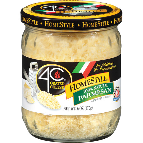 4C HomeStyle Parmesan Grated Cheese, 6 oz