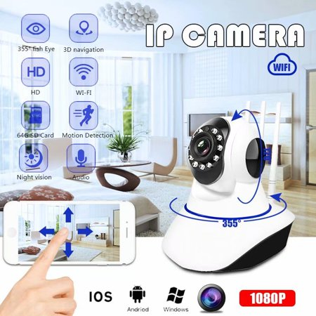 720P Wireless Camera IR Night Vision Security Webcam Baby Monitor CAM Surveillance IP Camera US Plug (Web Cam To Babys)