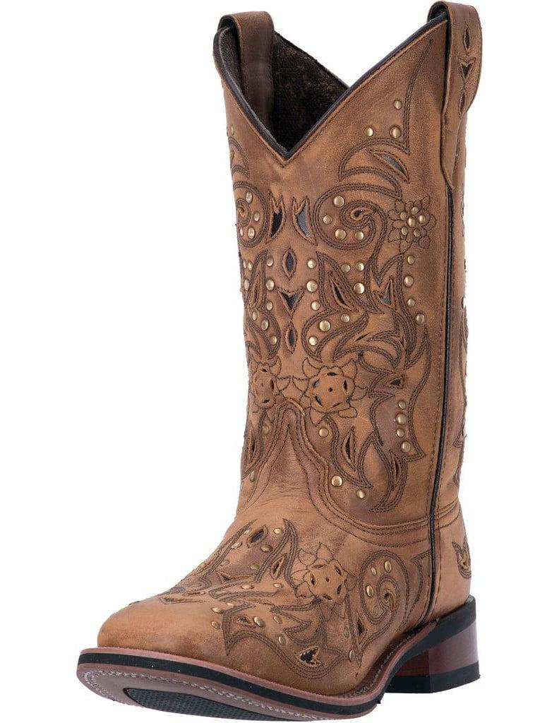 "Laredo Western Boots Womens 11"" Ulays Broad Toe Ulays Brown 5643 by Laredo"
