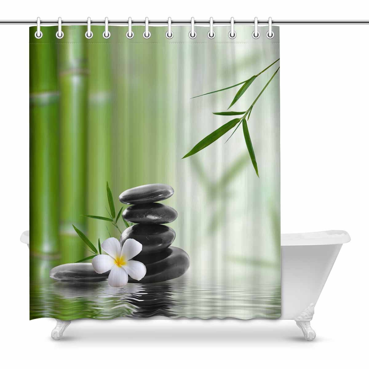 1 Pc Waterproof Bridge-in-Tree Shower Curtain for Home /& Bathroom