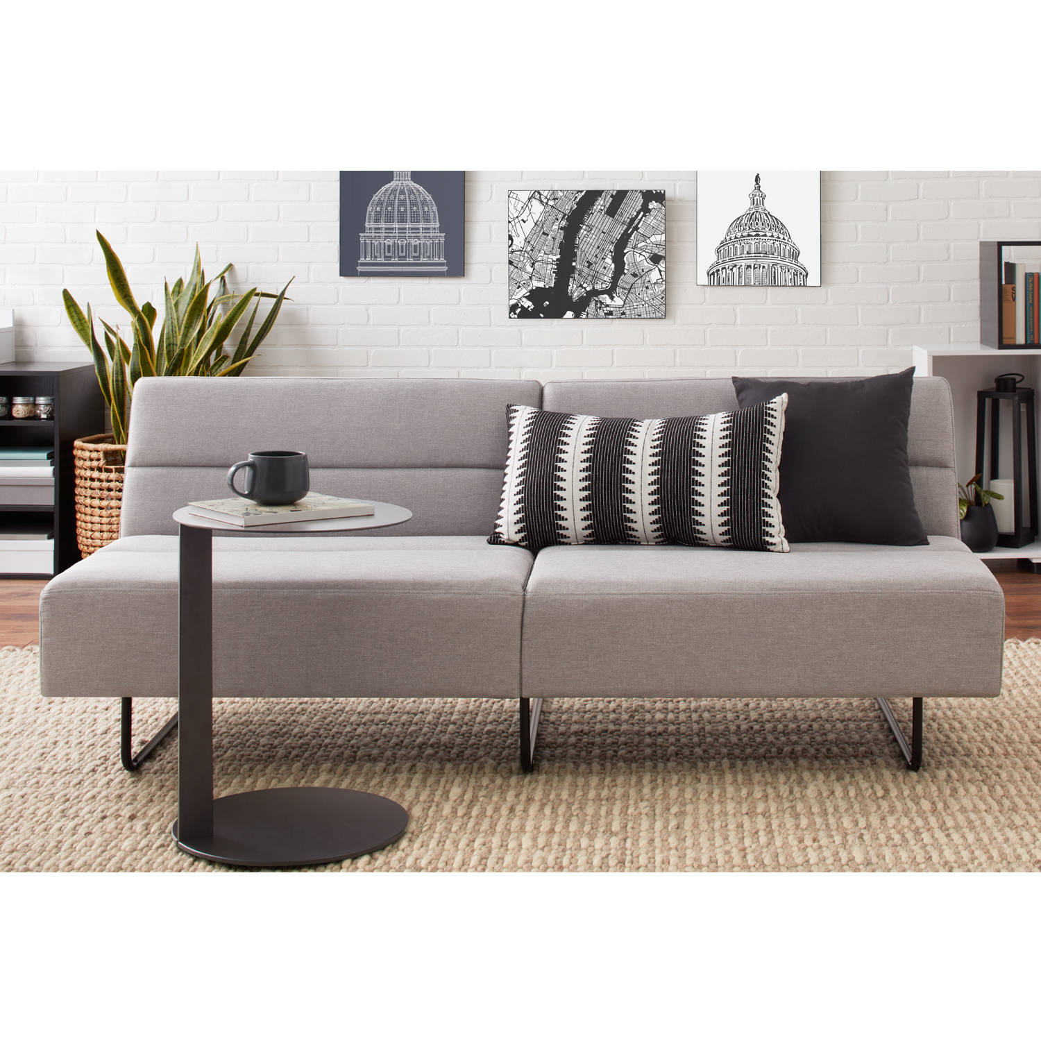 Charming Mainstays Fulton Sofa Bed, Multiple Colors