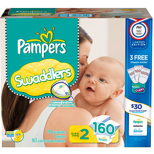 Pampers Swaddlers Olympics Huge Pack Sz2