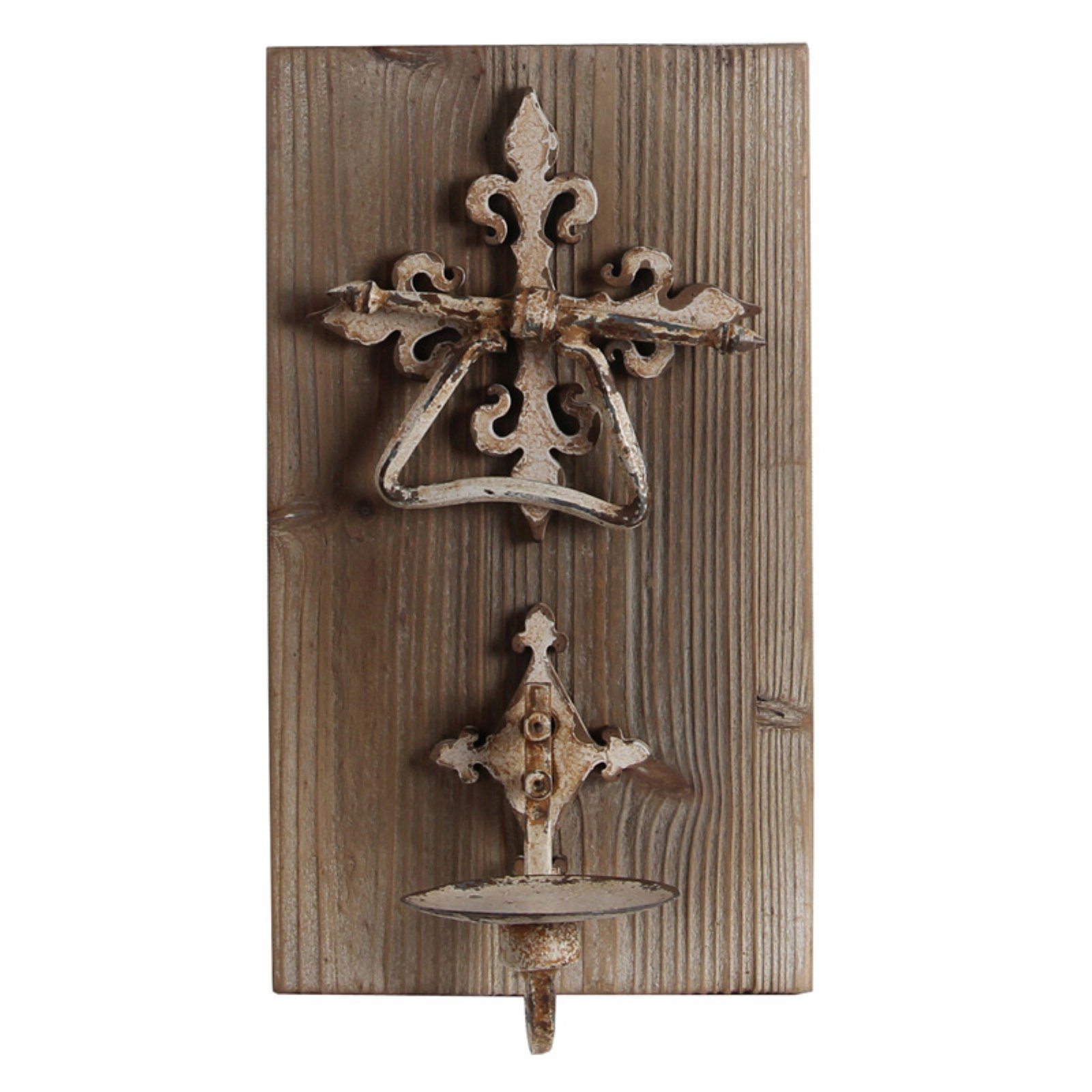 Privilege International Wood Wall Candle Holder