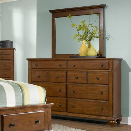 Broyhill hayden place landscape dresser mirror in light - Broyhill hayden place bedroom set ...