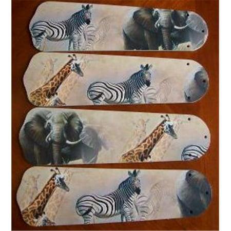 Ceiling Fan Designers 42SET-ANI-ASE New AFRICAN SAFARI ELEPHANT 42 Ceiling Fan BLADES (Best African Fashion Designers)