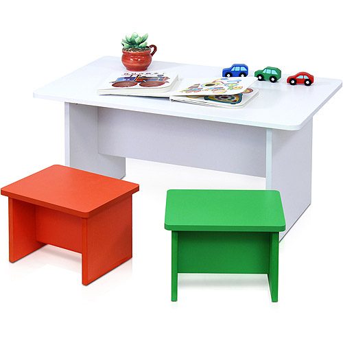 Furinno FNAM-11030 Nino Fun Color Kid's Table and 2-Chair Set