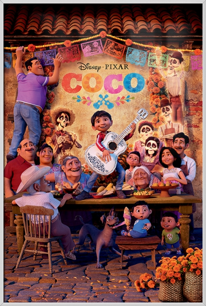 "Coco Disney   Pixar Movie Poster (Regular Style B The Family) (Size: 24"" x 36"") by"