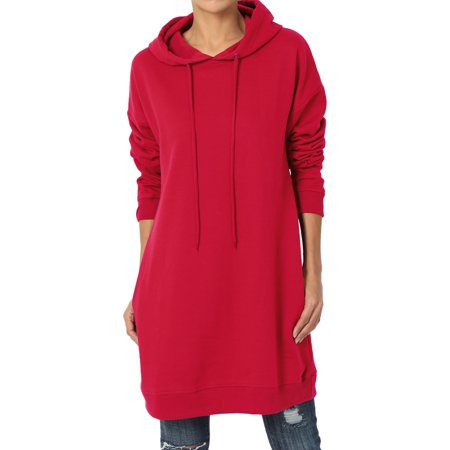 TheMogan Women's S~3X Oversized Hoodie Pocket Hooded Pullover Tunic Sweatshirts