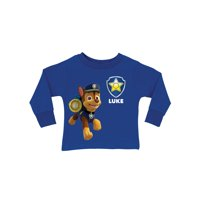 Personalized PAW Patrol Chase Royal Blue Long Sleeve Toddler T-Shirt