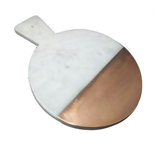 Jodhpuri Marble Round Paddle Board with Half Strip by