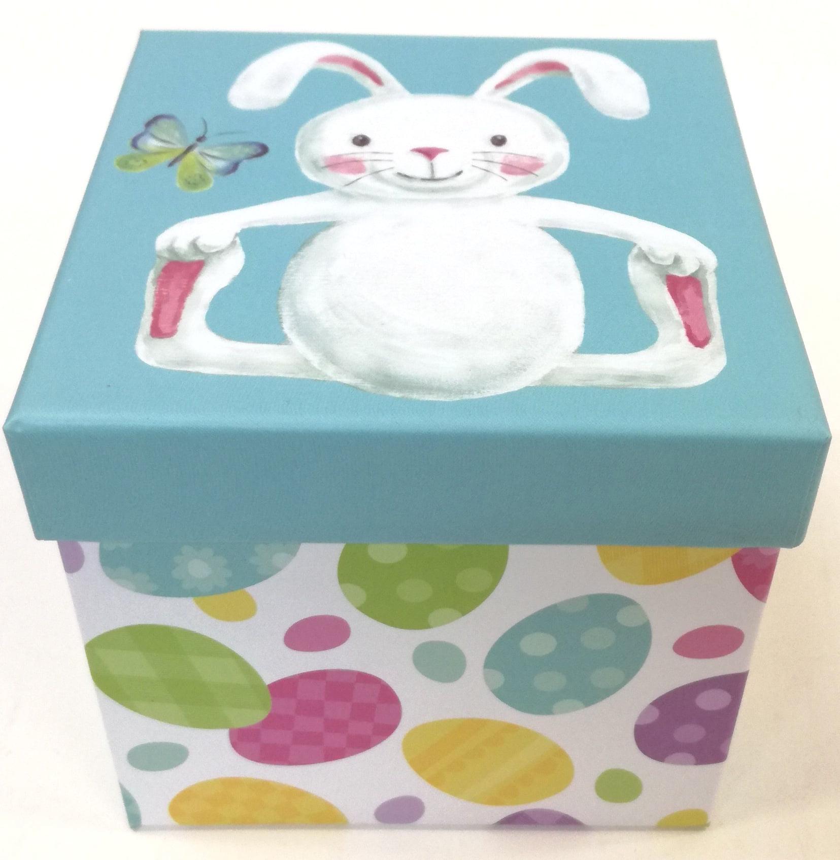 Easter -wal-mart Gift Box Blue Bunny