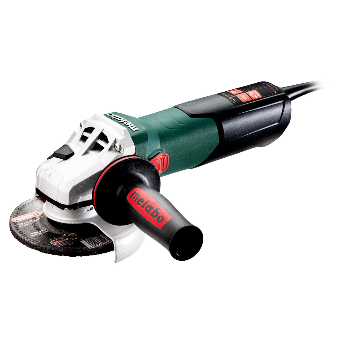 Metabo 600562420 5-Inch 13.5-Amp 2,800-9,600 RPM Angle Grinder with Lock-On