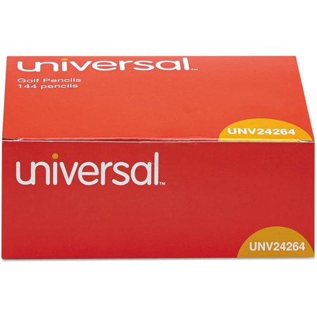 (2 Pack) Universal Golf & Pew Pencil, HB, Yellow Barrel, 144 Count