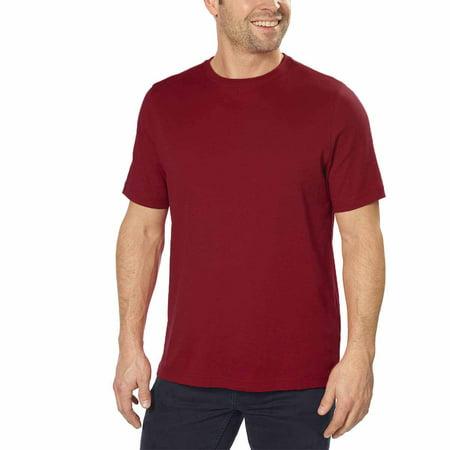 7407106d Kirkland Signature - Kirkland Signature Mens 100% Peruvian Pima Cotton Crew  Neck Short Sleeve T-Shirt (Maroon, X-Large) - Walmart.com