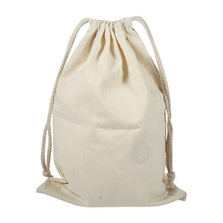 EECOO Cotton Storage Bags,Household Plain Cotton Drawstring Storage Laundry Sack Stuff Bag for Travel Home Use Drawstring Storage Bag