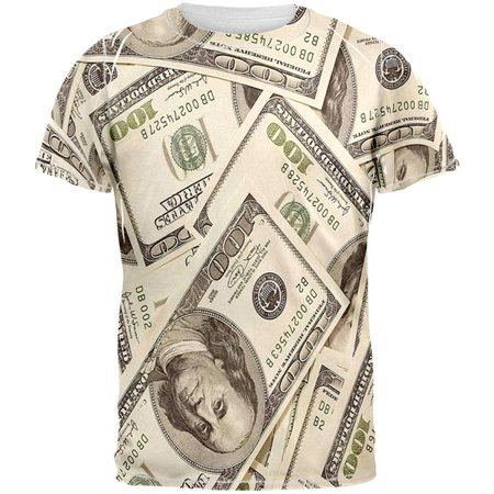 - Money All Over Adult T-Shirt