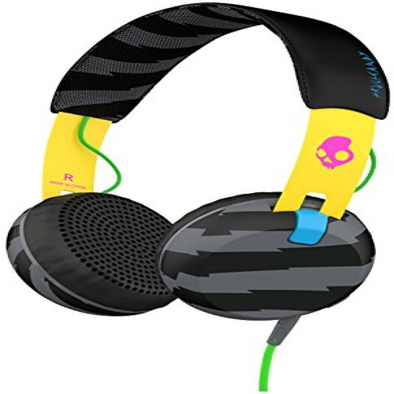 Skullcandy Grind Headphones Locals Only/Yellow/Black, One Size