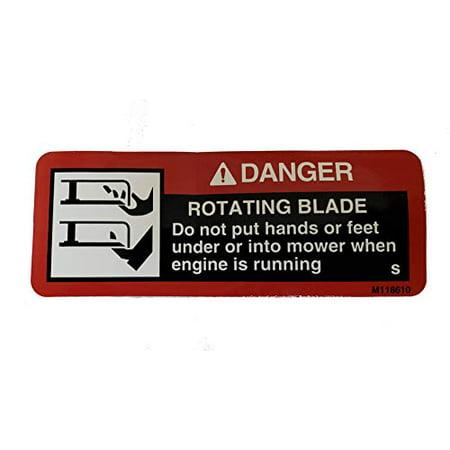 John Deere Original Equipment Safety Sign  - M118610 (John Deere Boys Room Decor)
