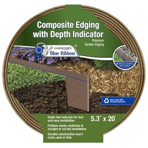 Gardener's Blue Ribbon Ceder and Brow Premium Lawn Edging