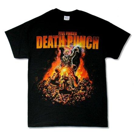 Five Finger Death Punch Purgatory 2014 Tour Black T