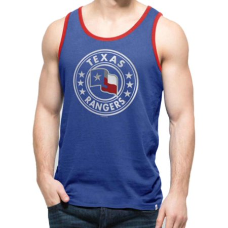 Texas Rangers 47 Brand Booster Blue All Pro Soft Cotton Tank Top T-Shirt by