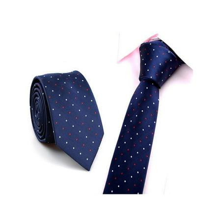 L Space Tie (OkrayDirect Casual Slim Plain Mens Solid Skinny Neck Party Wedding Tie Necktie )