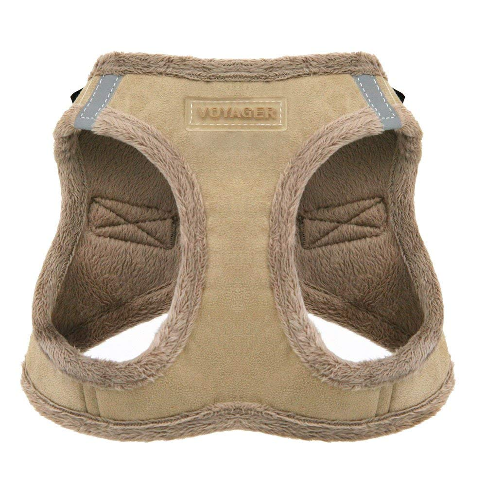 Voyager by Best Pet Supplies Soft Harness for Pets - No Pull Vest, Extra Large, Latte Suede