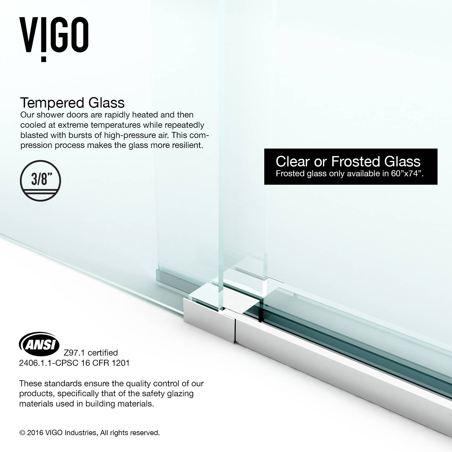 frameless com x with vigo dp winslow doors sll clear enclosure hardware in chrome and door amazon sliding glass shower