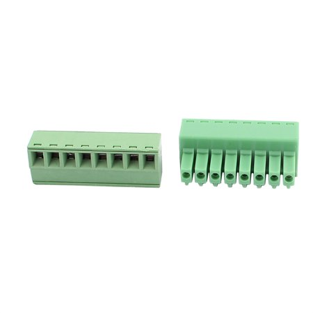 10Pcs 300V KF2EDGK 3 5mm Pitch 8-Pin PCB Screw Terminal Block Connector