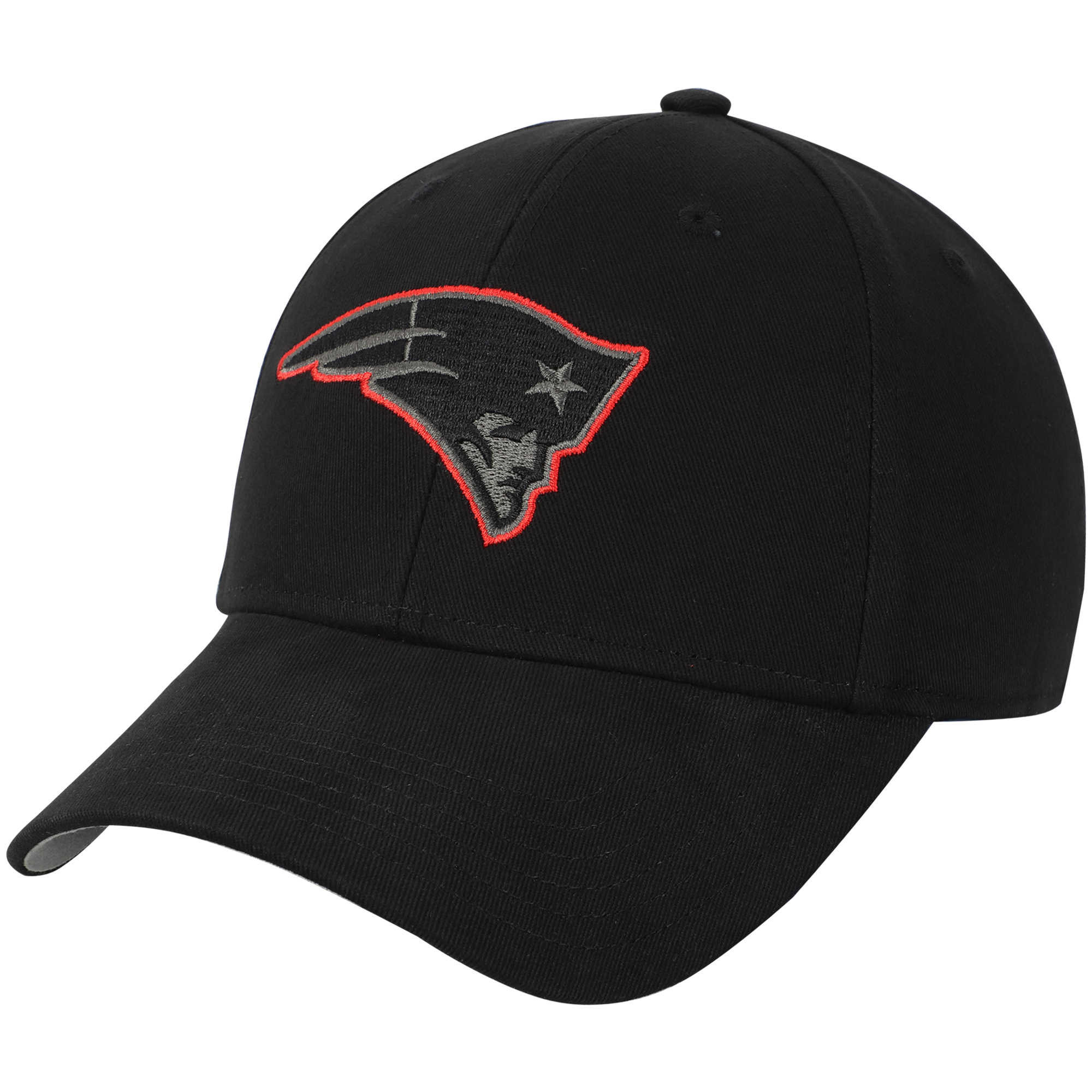 Youth Fan Favorite Black New England Patriots Basic Adjustable Hat - OSFA