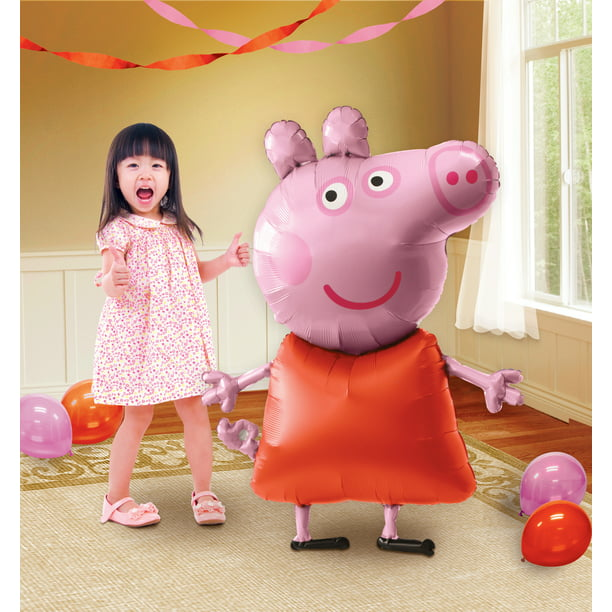 Peppa Pig Pink and Red AirWalker Foil Party Balloon