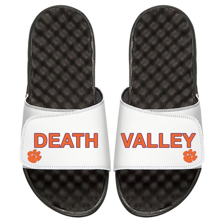 Clemson Tigers ISlide Youth Death Valley Split Slide Sandals - White