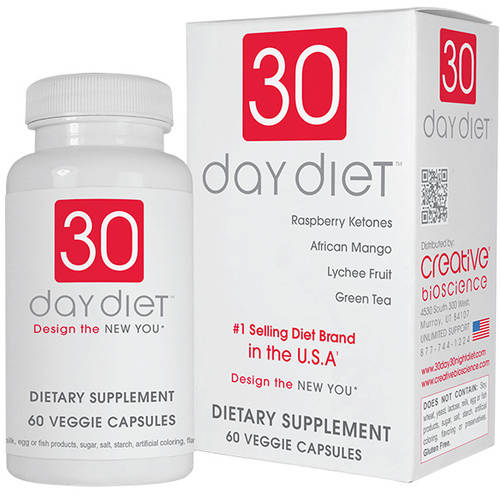 30 Day Diet Dietary Supplement Capsules, 60ct